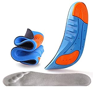 TOWINO® Sports Insole Silicone Gel Insoles Sports Running Insoles Massaging Shoe Inserts Pad Shock Absorption (Size:5-9)