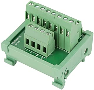 Modulplatine 2 in 8 polige Modul Breakout Platine DIN Schienen  und Schalttafelmontage Power Distribution