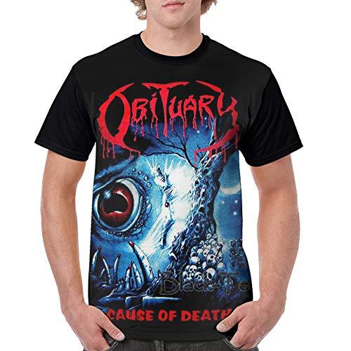 Obituary Cause of Death T Shirt Men