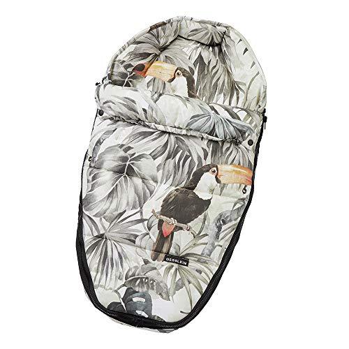 Gesslein Baby-Nestchen, 039 Urwald beige/olive, warmes Kuschelnest/Fußsack für Neugeborene und Säuglinge, für Kinderwagen Wanne, Babyschale, Bettchen und Wiege, inkl. Gurtschlitze