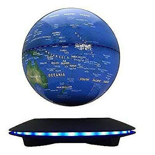 "LOYALHEARTDY Floating Globe, 6"" Floating Globe Maglev Magnetic Blue Globe Levitation World Map Anti Gravity Rotating Ball Globes Deco for Children Educational Gift Home Office Desk Decoration"