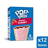 Pop-Tarts, Breakfast Toaster Pastries, Frosted Cherry, Proudly Baked in the USA,  8 tarts (Pack of 12, 13.5 oz Boxes)