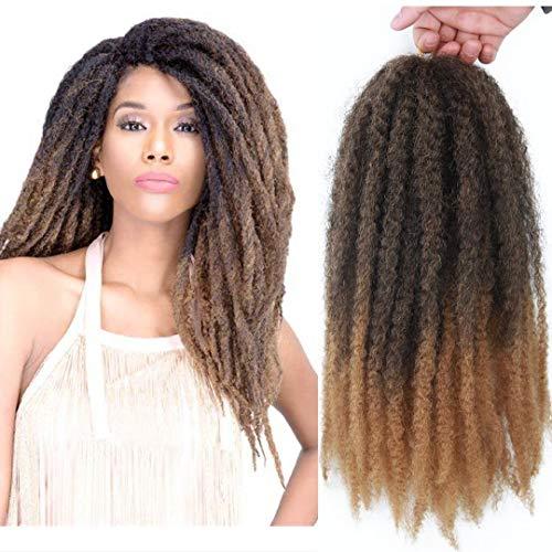 Marley Hair 4 Packs Afro Kinky Curly Crochet Hair 18 Inch Long Marley...