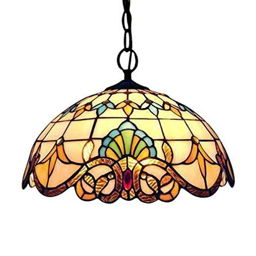 Tiffany Tafellamp Vintage Ontwerp Woonkamer Eetkamer Veranda Mediterrane Bedkant Balkon Planten Lamp Ronde Pastorale Rustieke Glas in lood Decoratie Indoor Verlichting E27 Max.40 W A- Oslash; 25cm