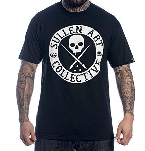 Sullen Clothing Herren Badge of Honor Solid Short Sleeve Tee T-Shirt, schwarz, Mittel