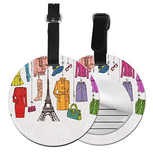 Etiquetas para Equipaje Bolso ID Tag Viaje Bolso De La Maleta Identifier Las Etiquetas Maletas Viaje Luggage ID Tag para Maletas Equipaje Paris Mujer Colgante