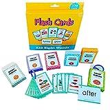 Tastak Baby Early Learning Flash Cards Set Alfabeto Reconocimiento de Palabras comunes Juguetes educativos de ortografía cognitiva Preescolar Kindergarten Material didáctico para niños pequeños Niños