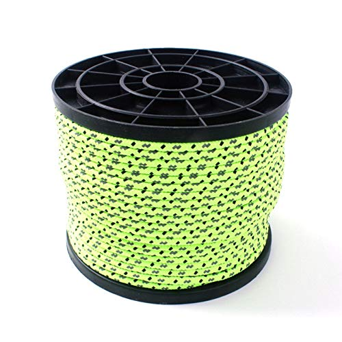 SmallPocket Reflective Nylon Rope Guy Line Tent Guide Rope for Camping and Hiking Outdoor Fluorescent Washable Strong