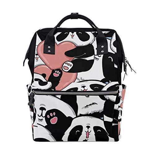 Sac à langer Panda Hug Heart Love Grand sac à langer de voyage pour allaitement