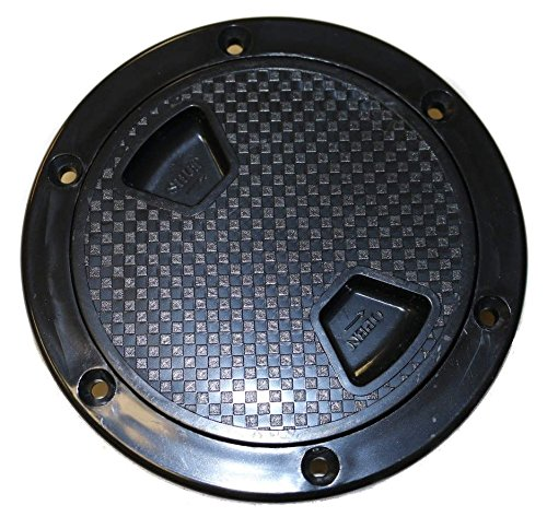 SEAFLO 4' Black Boat Round Non Slip Inspection Hatch w/Detachable Cover