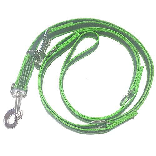 Activity4Dogs Hundeleine Nylon Anti-Slip rutschfest, 2,80 m lang, 4-Fach verstellbar, Multileine, für mittelgroße und große Hunde, in Mehreren Farben lieferbar, (2,80 m, grün) Made IN Germany