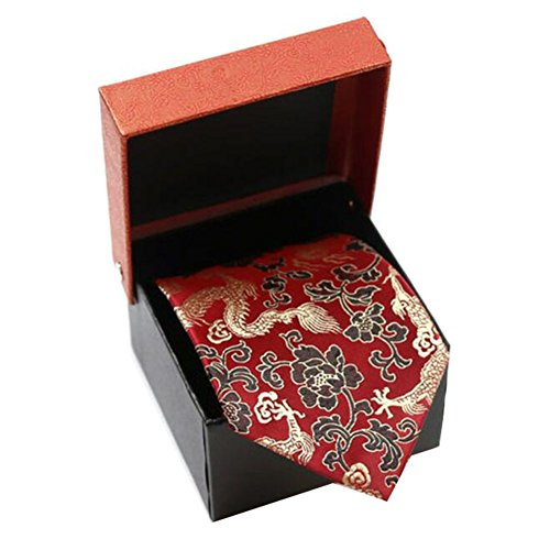 Black Temptation Cravates de mariage/dragon Motif noeuds papillon/cravate/écharpe/Neckwear-rouge