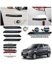 BUY HAPPYAMMY SHOP Bumper Protector Guard Single Chrome Strip (Small) Strip 4PCS Black (for Maruti Suzuki Alto 800)