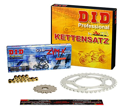 Kettensatz Kawasaki ZZ-R 1200, 2002-2005, Typ ZXT20C, DID X-Ring (ZVM-X gold) super verstärkt