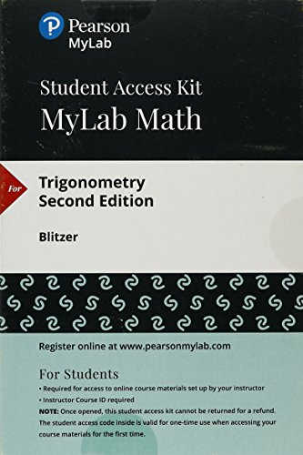 MyLab Math with Pearson eText -- 24-Month Standalone Access Card -- for Trigonometry (2nd Edition)