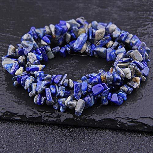 FISH4 Lapislázuli Natural ópalo Cuarzo fluorita Amethys Freeform Chip Stone Beads DIY Collar Pulsera Fabricación de Joyas 15'-Lapis Lazuli
