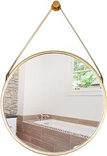 ZYLE جولة مستحضرات التجميل مرآة الحمام الغرور مرآة الحائط المرحاض خلع الملابس مرآة 60 سنتيمتر