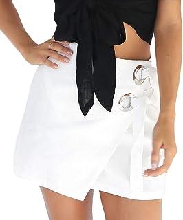 Women Mini Pencil Skirts Short Bag Hip Casual Stitching Elegant Buttoned Skirt