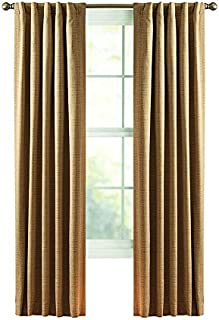 Style Selections Roberta 84-in Natural Polyester Back Tab Room Darkening Thermal Lined Single Curtain Panel