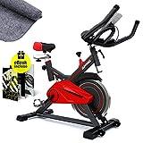 Sportstech SX100 Cyclette Professionale con volano di 13KG, braccioli Imbottiti, Speedbike con...