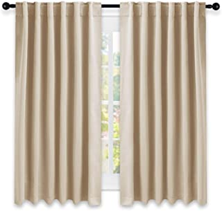 Best NICETOWN Window Treatment Curtains Room Darkening Drapes - (Biscotti Beige Color) 52 Width X 63 Drop Each Panel, 2 Panels Set, Curtains and Draperies for Kitchen Review