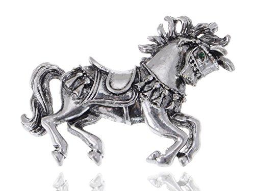 ALILANG Vintage inspirado Repro carrusel caballo metal Disfraz joyas Pin Broche