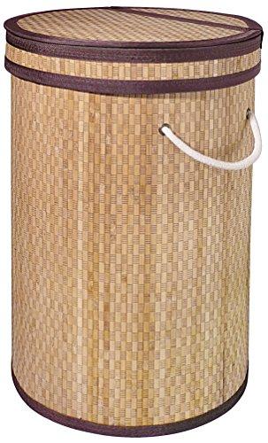 Gelco Design 707791 Panier à Linge Avec Couvercle, Bambou, Naturel, 37 x 37 x 56 cm