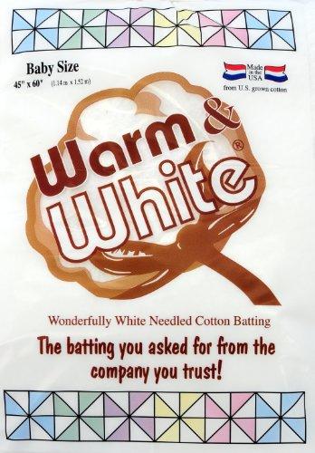Warm & White - Imbottitura in Cotone, 114 x 152 cm