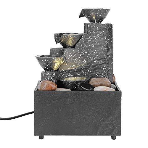 Fuentes de Mesa, Fuente de Agua de Escritorio USB Feng Shui Adorno de decoración de Agua Que Fluye para decoración del hogar, Yoga, SPA y meditación