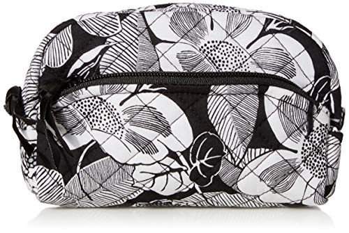 Vera Bradley Women's Signature Cotton Mini Cosmetic Makeup Organizer Bag, Bedford Blooms, One Size