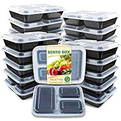 meal prep containers with 2 sides