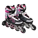 Adjustable Inline Skate Pink/White Size 4-7