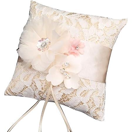 Ring Bearer Pillow Fall Autumn Wedding Nest Elegant Rustic Garden Vintage Traditional Romantic Preserved Moss Juniper /& Acorn Wedding Gift