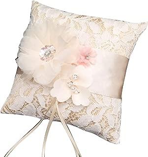 white ring bearer pillow