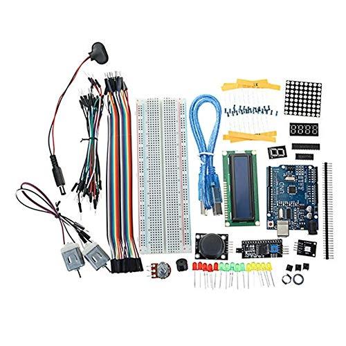 Anfänger DIY Komponenten Praxis Vorstand Löten Motor LED Matrix MB102 Steckbrett for Arduino UNO R3 Starter Kits 1602 LCD L293D DIY Kit elektronische Anzug-Brett für Arduino