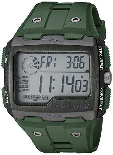 Timex Men's TW4B02600 Expedition Grid Shock Green Resin Strap Watch