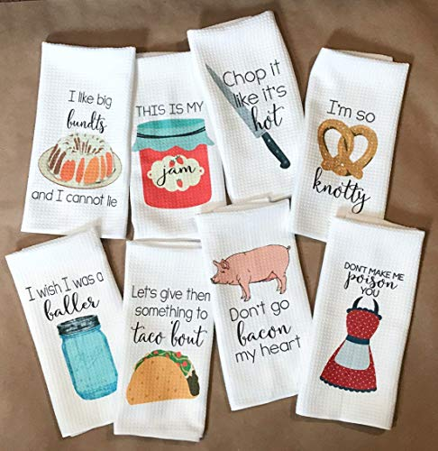 10. Funny Kitchen Tea Towel Housewarming Gift