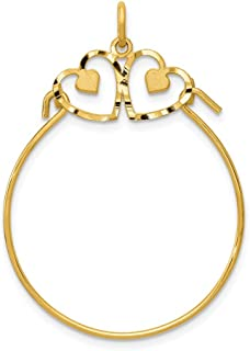 2  Pendant Bail charms Holder 24k matte gold plated connector large hollow Turkish jewellery components supply mdla0102A