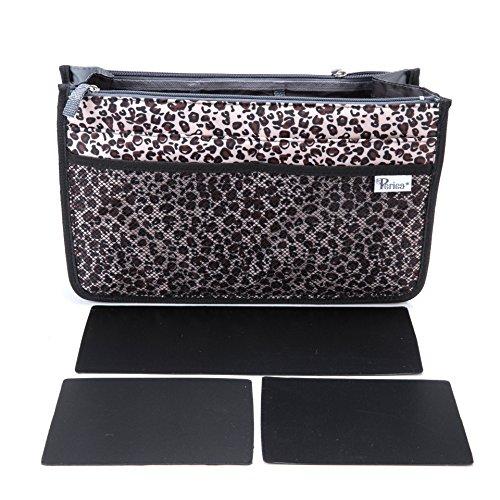 Periea Handtasche Organizer Taschen-Organisator - Chelsy Prämie - 3 Farben verfügbar - klein, mittel oder groß (Gold Leopard, Groß)