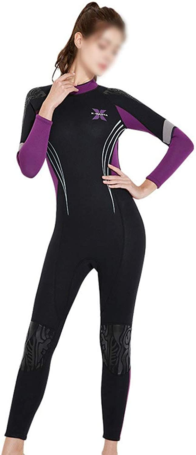 KERVINJESSIE 3MM Thick Warm Diving Suit Female Siamese LongSleeved surf Clothing Winter Swimming Cold Diving Suit Jellyfish Swimsuit