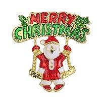 PULABO クリエイティブヴィンテージドリッピングクリスマスブローチピン服スカーフピン襟バッジ服ジュエリー装飾丈夫で、保存しやすいです