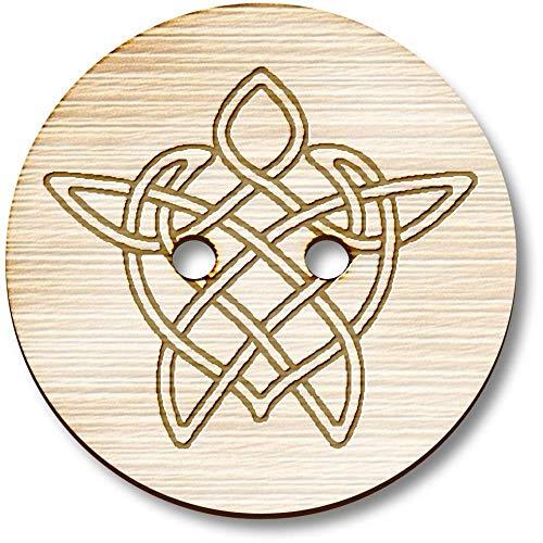 Azeeda 8 x 23mm 'Celtic Turtle' Round Wooden Buttons (BT00000001)