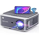 DBPOWER Native 1080P WiFi Projector, 8500L Full HD Outdoor Movie Projector, Support 4D Keystone Correction, Zoom, PPT, 300' Portable Mini Video Projector Compatible w/Smart Phone/Laptop/PC/DVD/TV/PS4