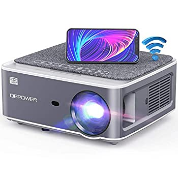 DBPOWER Native 1080P WiFi Projector 8500L Full HD Outdoor Movie Projector Support 4D Keystone Correction Zoom PPT 300  Portable Mini Video Projector Compatible w/Smart Phone/Laptop/PC/DVD/TV/PS4