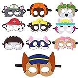 REDO 10 unidades de máscaras de la Patrulla Canina, para cumpleaños, fiestas de cosplay, para niños, máscaras de personaje, para fiestas de Halloween