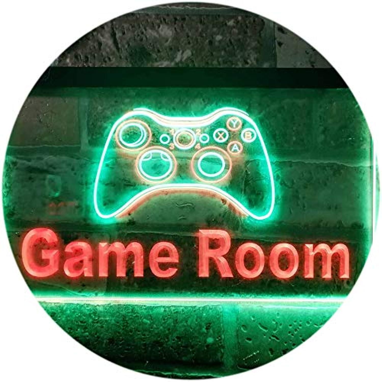 ADVPRO Game Room Console Man Cave Garage Dual Farbe LED Barlicht Neonlicht Lichtwerbung Neon Sign Grün & rot 400mm x 300mm st6s43-j0984-gr