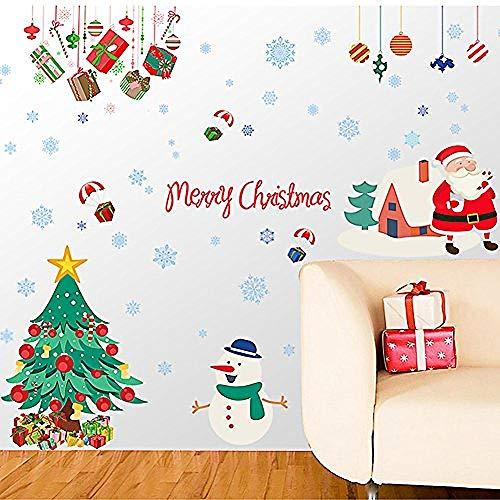 Zbzmm stickers voor raamstickers, zelfklevend, verwijderbaar, decoratie voor thuis of om zelf te maken, voor deuren van glas, raamfolie voor Kerstmis, Nieuwjaar Kerstman