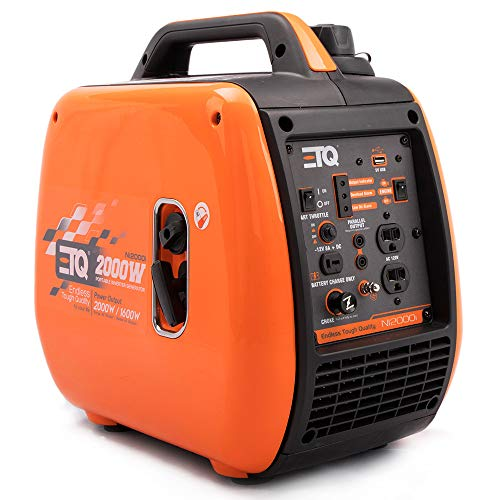 ETQ NI2000i Tough Quality 2000-Watt Portable Inverter Generator - Extremely Quiet - CARB Compliant generator inverter