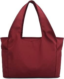 TOOGOO Nylon Tote Bag Multifunctional Mom Backpack Waterproof Shopping Bag Ladies Handbag Large Capacity Bag Purple