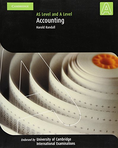 Accounting A Level and AS Level (Cambridge International Examinations)